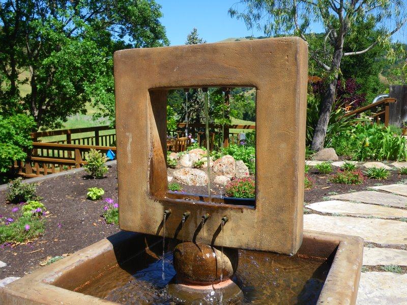 Fountain provides the sound of water