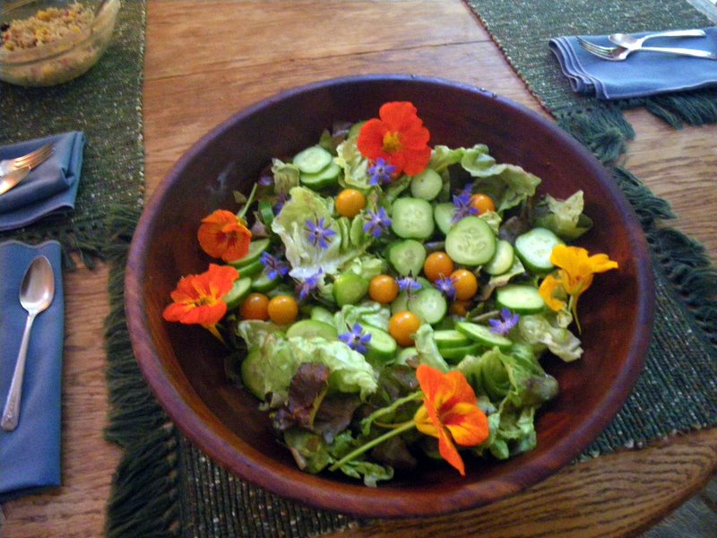 Edible Flowers in the salad