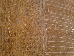 Two types of erosion control blankets - coconut and straw