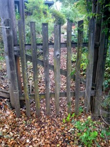 Hand hewn pickets make a beautiful fence
