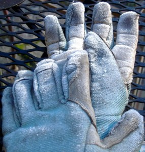 Bring your gloves inside, or they'll get frosted too