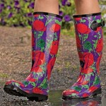 Colorful rubber boots