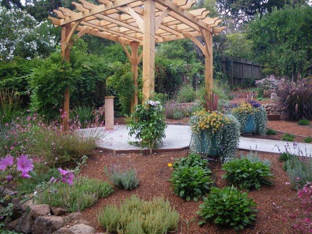 A garden full of herbs for birds, butterflies and humans
