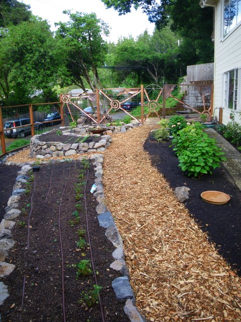 Stone for raised beds