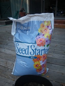 Soilless seed starter medium