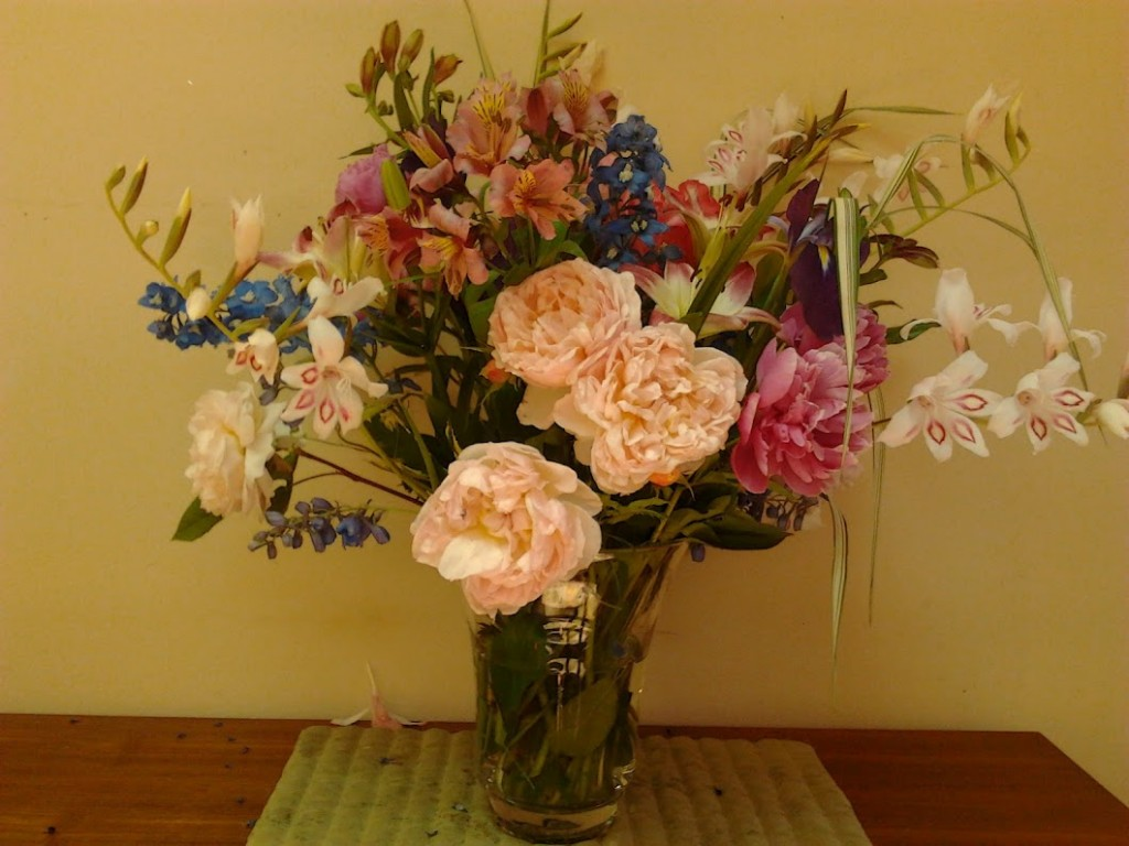 Flowers for a fundraiser