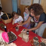 Seed sowing with children