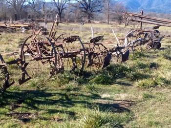 Horse drawn plows
